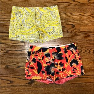 J.Crew sz 4 shorts (two pairs) paisley floral